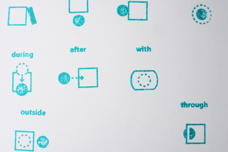 prepositions-5 stamps-paper